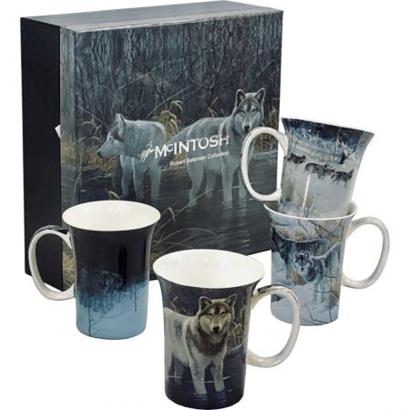 Robert Bateman Wolf Mug set of 4
