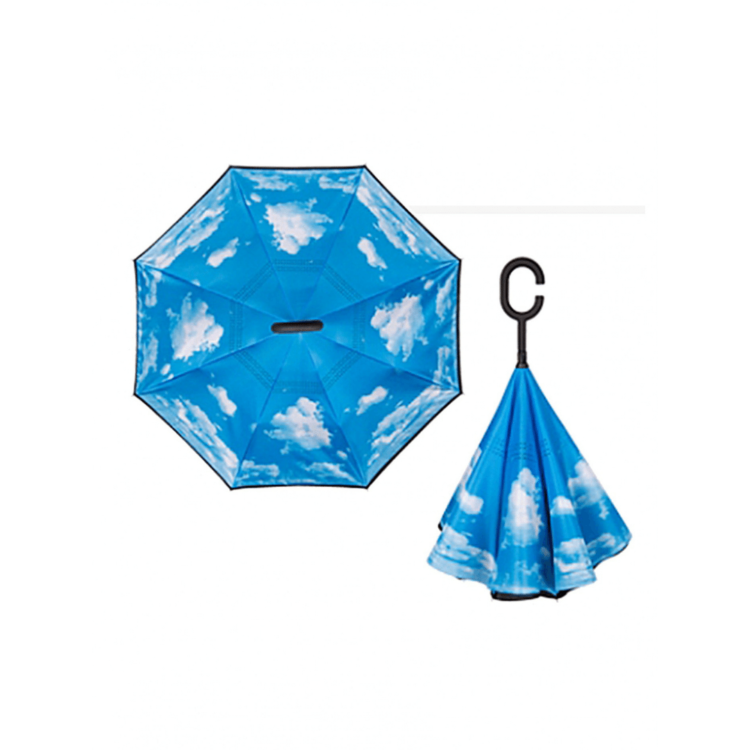 Sky print reversible umbrella