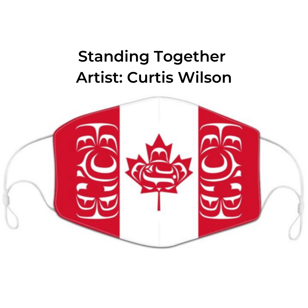 Standing Together face mask by artist Curtis Wilson