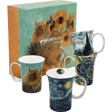 Vincent Van Gogh set of 4 mugs