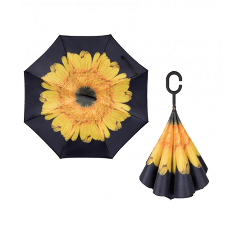 Yellow Sunflower reversible umbrella
