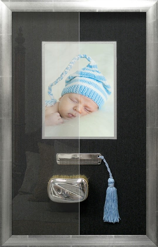 baby first memory glass framing