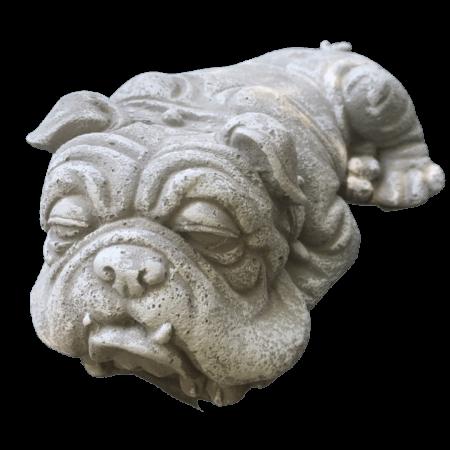Bulldog cement sculpture for the garden