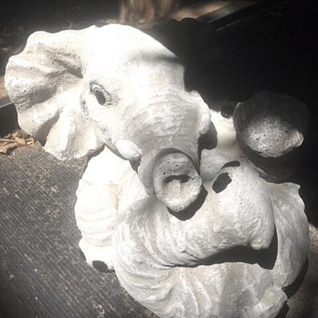 Playful Elephant Cement Garden Statue art